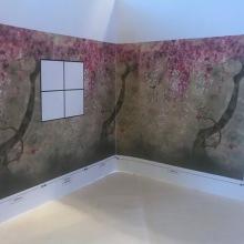 Konsultation inför installation tapet  - kollektion Shinsa av Designers Guild 2019 - hos Alegni Interiors Stockholm