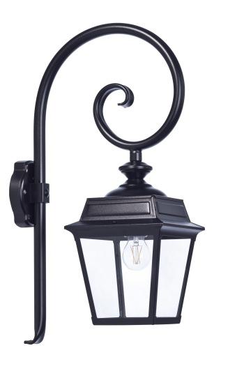 Klassisk utebelysning - Kollektion Place des Vosges 1 Tradition - Modell 5, svängd arm