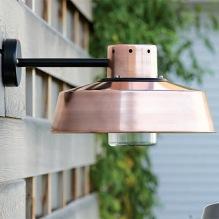 Utomhusbelysning i koppar - kollektion Faktory - återförsäljare Alegni Interiors Stockholm