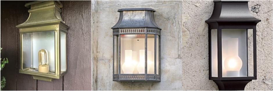 Utebelysning för fasad - Kollektion Louis Philippe - hos Alegni Intneriors Stockholm