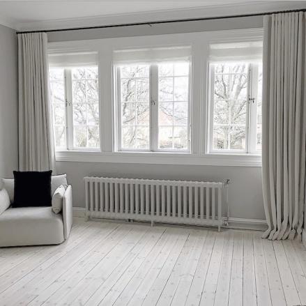 Måttbeställda gardiner & gardinstänger - hos Alegni Design Interiors, gardinmakare i Stockholm