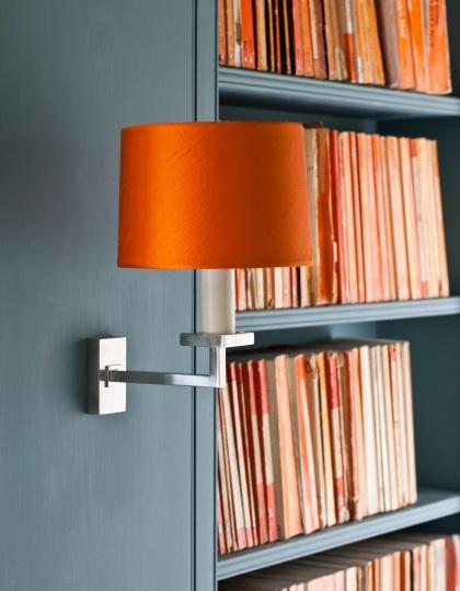 Vägglampa Fixed Library - mässing, brons och nickel - by Vaughan Designs - beställ hos Alegni Design Interiors, Stockholm