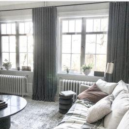Fodrade långa gardiner - tyg Astrid.se - beställ hos Alegni.com
