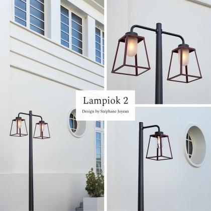 Modern utomhusbelysning - Kollektion Lampiok nu i större modell - hos Alegni Design Interiors Stockholm