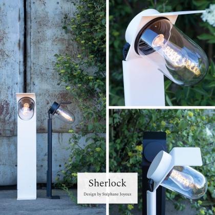 Modern utebelysning i industriell design - kollektion Sherlock - Alegni Interiors Stockholm