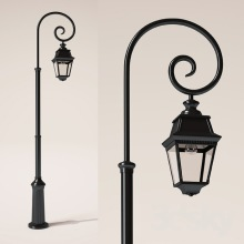 Klassisk lyktstolpe - utomhusbelysning - trädårdsbelysning - gatlykta