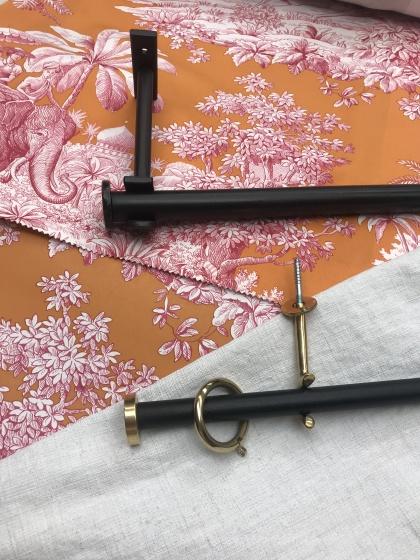 12/16mm gardinstång i smide med  detaljer i mässing