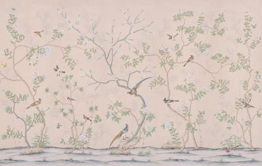 Handmålade tapeter, de Gournay - panorama- beställ hos Alegni Interiors
