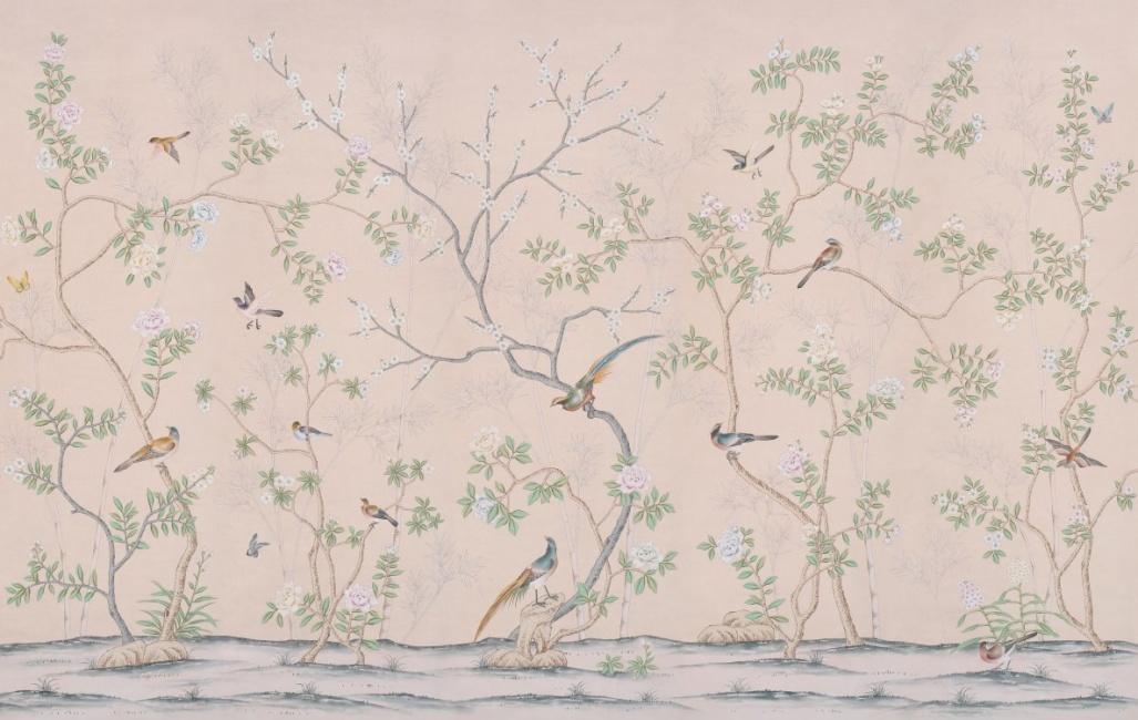 Mural tapeter - kollektion de Gournay - hos Alegni Interiors Stockholm