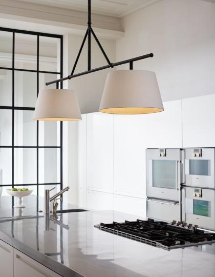 Taklampa för matbord och köksö - by Vaughan Designs - Kollektion  Lancaster i mässing, brons och nickel - hos Alegni Design Interiors, Stockholm