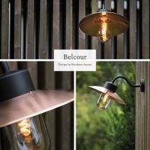 Stallampa - Kollektion Belcour i koppar och zink - Utebelysning vägg - hos Alegni Design Interiors, Stockholm