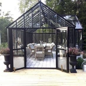 Nybyggnation - Orangeri i akärgården