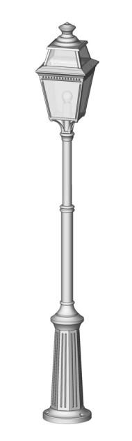 Utebelysning -lyktstolpe på teleskopiskt fot  - Kollektion Place des Vosges 3, modell 6  - hos Alegni Interiors Stockholm