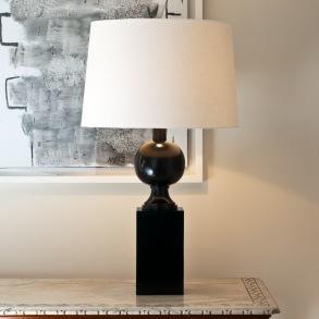 Bordslampa by Vaughan Designs - Modell Woodville, brons, måssing och nickel - beställ hos Alegni Design Interiors Stockholm