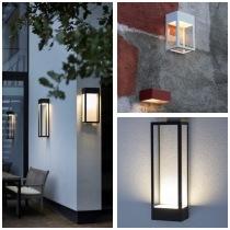 Modern stor fasadbelysning, integrerad LED - Kollektion Hogar, IP65 - hos Alegni Interiors Stockholm