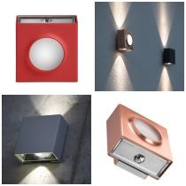 Utebelysning, integrererad LED - Up & downlight - Kollektion Klint - Modell 1, utelampa vägg - Modern fasadbelysning - Alegni Design Interiors