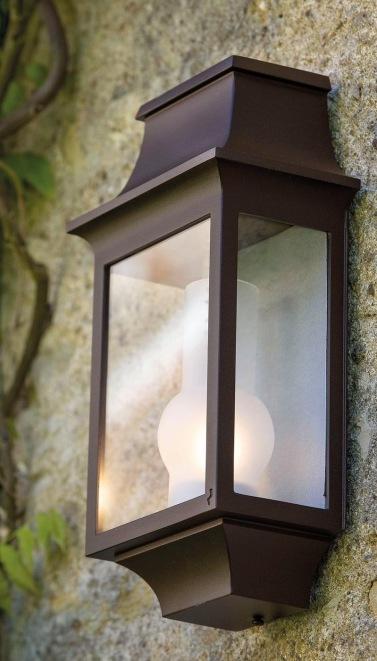 Klassisk fasadbelysning - Kollektion Louis Philippe - Modell 7, väggapplik  i lackerad aluminium