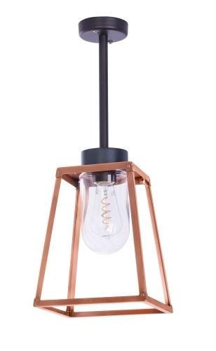 Taklampa i mässing och koppar - Modern utomhusbelysning - Kollektion Lampiok - modell 2 - hos Alegni Interiors Stockholm
