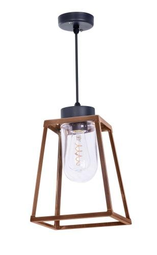 Modern utomhusbelysning i mässing - Kollektion Lampiok, modell 3, tak