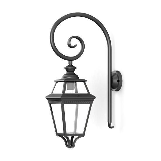 Klassisk utomhusbelysning - Vägg, svängd arm - Fasadlampa - Kollektion Place des Vosges 3 - Modell 3 - hos Alegni Interiors Stockholm