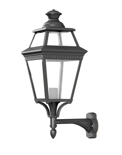 Srtor klassisk utomhusbelysning - Vägg, stående arm - Kollektion Place des Vosges 3 - Modell 4