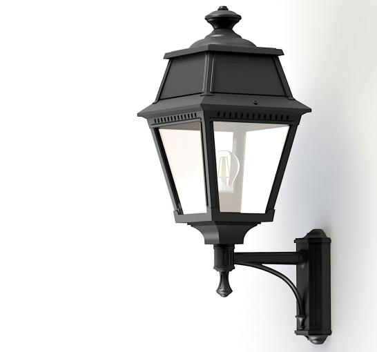 Klassisk utebelysning - Kollektion Avenue 2 - Modell 7, vägg stående arm- hos  Alegni Interiors Stockholm
