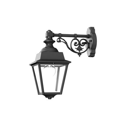 Klassisk utomhusbelysning - Kollektion Chenonceau - Modell 4, vägg rak arm hängande - hos Alegni Interiors Stockholm