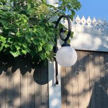 Trädgårdsbelysning - Utebelysning med klot -Kollektion Moon, med svängd arm