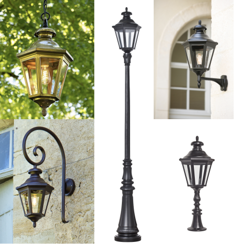 Klassiska lyktstolpar och utelampor för vägg och tak - Kollektion Louis VIII - hos Alegni Design Interiors