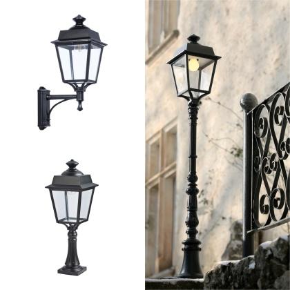 Utebelysning för fasad och trädgård - Stolpbelysning - Fasadbelysning - Kollektion  Place des Vosges 1 Évolution