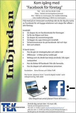 Kom igång med facebook för företagre. Marknadskommunikation på facebook för småföretagare.