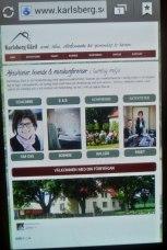 Ny, användar-, mobil- & sökmotorsvänlig hemsida tack vare Konsultchecken i Halland. Karlsberg Gårds nya hemsida.