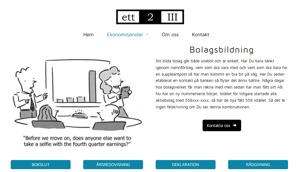 Ny sökoptimerad hemsida ett2III i Halmstad