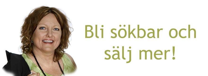 Sökoptimering hemsida - SEO sökmotoroptimering på webben med sökmotorkonsult Anna Åxman