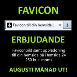 Favicon bild till din hemsida - erbjudande augusti månad ut!