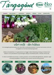 Ny responsiv sökmotoroptimerad hemsida för Tångagård i Falkenberg - ekologisk KRAV-godkänd grönsaksodling mitt i Halland