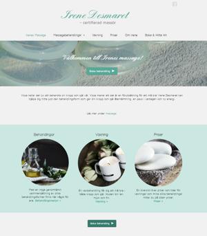 Ny seo optimerad & responsiv hemsida av webb & seo byrå Anna Åxman i Falkenberg - Irenes Massage i Köinge mellan Falkenberg & Ullared