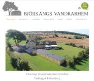 Användarvänlig och sökmotoroptimeread hemsida för Björkängs Vandrarhem och Bed & Kitchen mellan Varberg & FAlkenberg, Halland