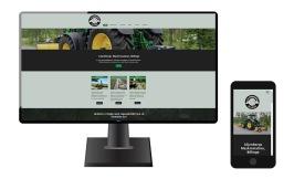 Ny, mobilvänlig hemsida för Liljenbergs Maskinstation i Eslöv, Skåne