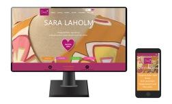 Hemsida & webbutik för SARA LAHOLM, designade, färgglada och mönstrade klänningar av SARA LAHOLM