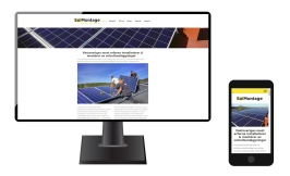 Ny hemsida för SolMontage Halland AB - projektering, montage och installation av solcellsanläggningar i VästsverigeAnderssons Timmerstuga i Laholm - Våxtorp