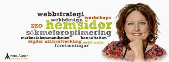 Hjälp, råd & konsultation Hemsida24. Konsult Anna Åxman hjälper dig med Hemsida24.