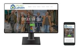 Ny, mobilvänlig och sökmotoroptimerad hemsida för shopping i Attraktiva Laholm