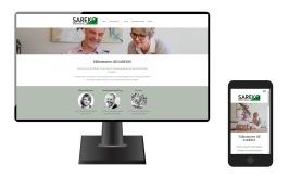 Mobilvänlig och sökmotoroptimerad hemsida för SAREKO ekonomi och redovisningstjänster i Lerum - Anna Åxman