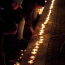 Ljusmanifestation i Göteborg för offren vid Utöya 22 juli 2011