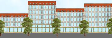 Illustration av Landshövdingehus 2.0 för Yimby Göteborg