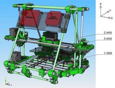 CAD-modell av 'Mendel'