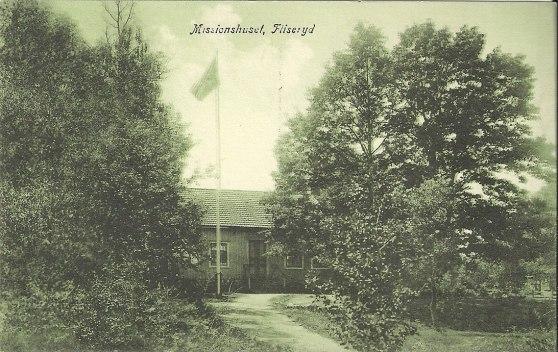 vet ej vilket år detta kort är taget,men missionshuset byggdes 1855