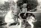 min mamma och mina kusiner Kenth och Bill,kortet taget ca.1960