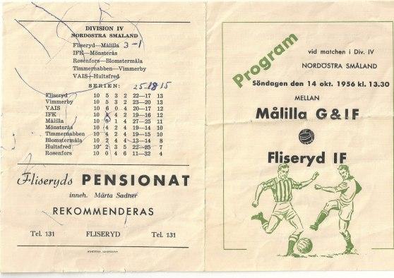 Programblad 1956